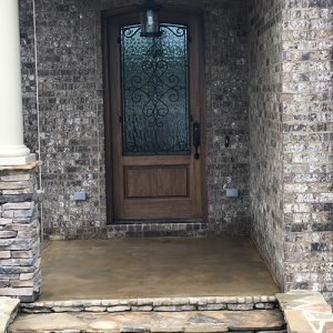 stained concrete front porch