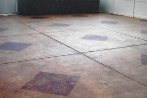 diamond accents with etching concrete stained floors