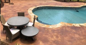 stained pool deck in amory ms