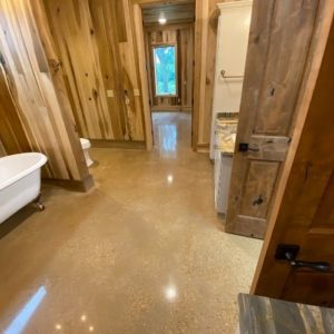 Custom Concrete Creations Polished Concrete Merigold Bathroom