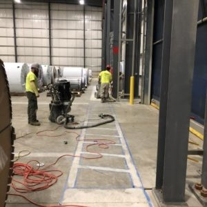 Polishing a Warehouse Custom Concrete Creations Concrete Polishing
