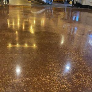 Polishing Concrete With Custom Concrete Creations