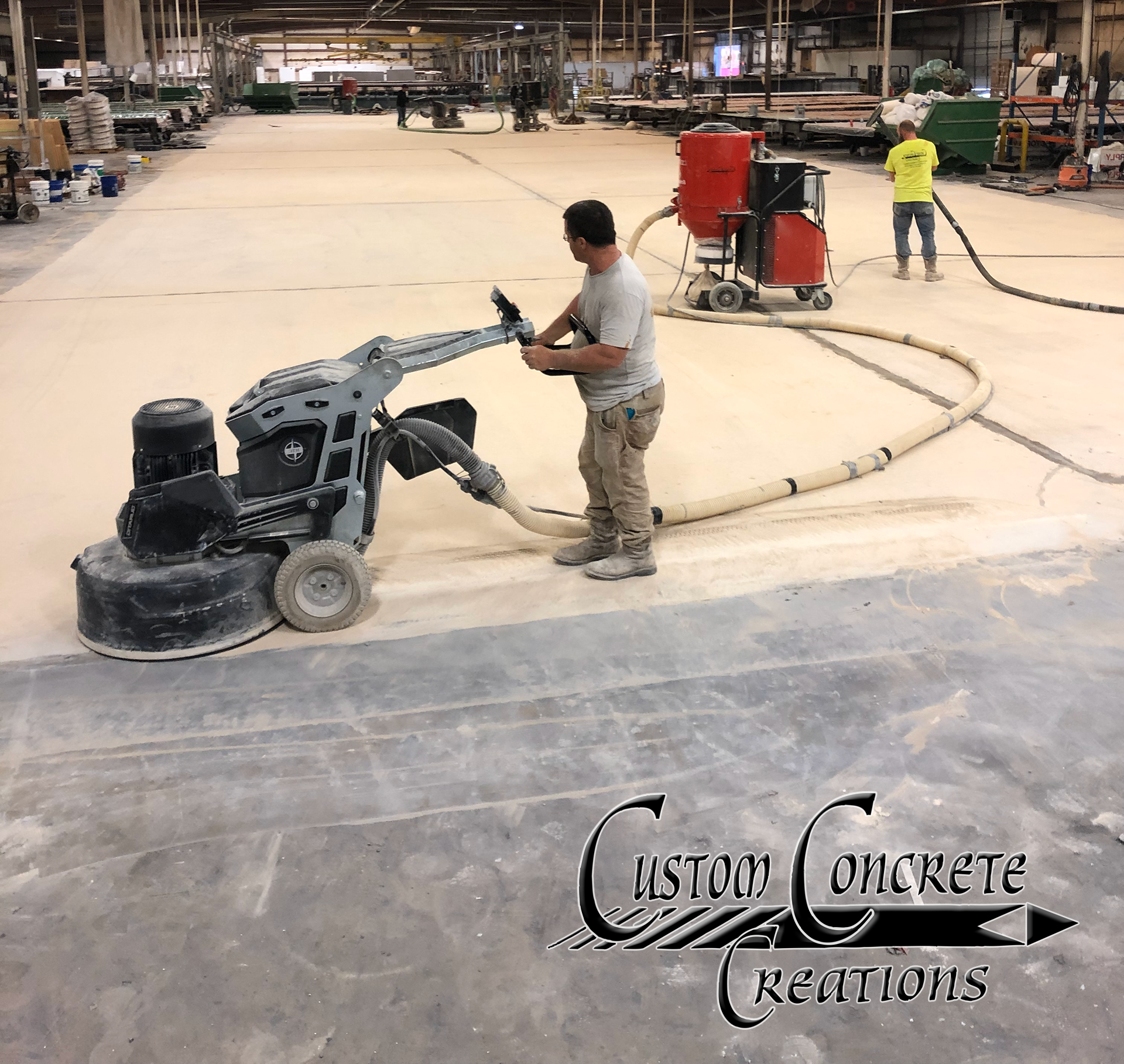 Commercial and Industrial concrete refinishing